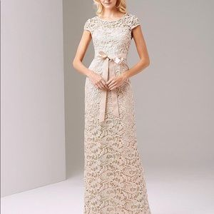 Adrianna Papell Long Ivory Dress